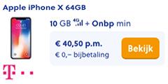 Apple iPhone X 64GB met T-Mobile
